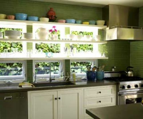 Unique design ideas for kitchen with many windows for Kitchen designs with lots of windows