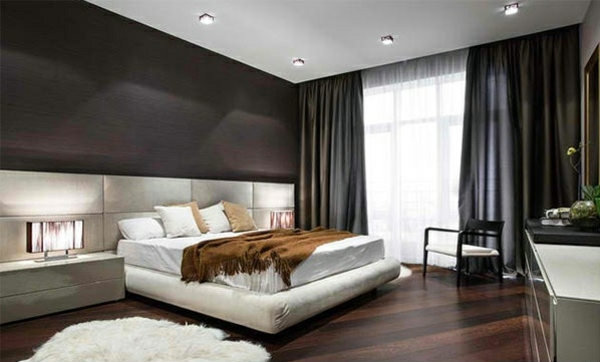 Wooden floor laid the flooring in modern bedroom for Hardwood floors in bedrooms