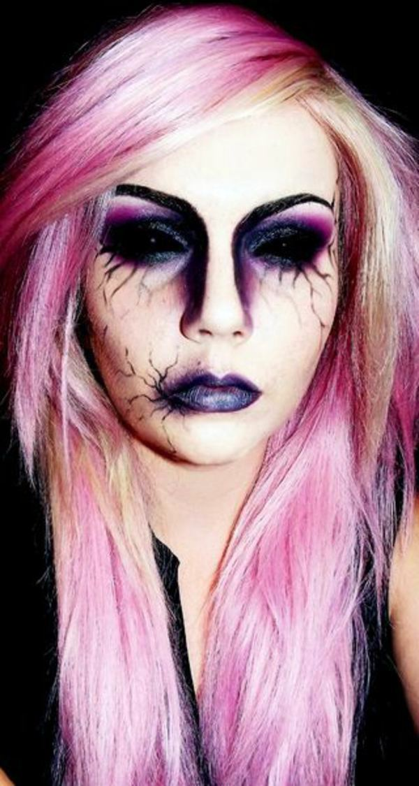 Halloween Costumes  unusual ideas and tips Interior - Purple Halloween Makeup Ideas