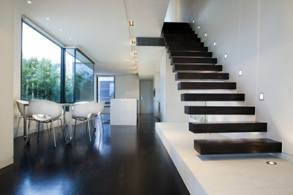 Lighting Basement Washroom Stairs: 101 Modern Stairs Appear As An Eye-catcher In Your Home