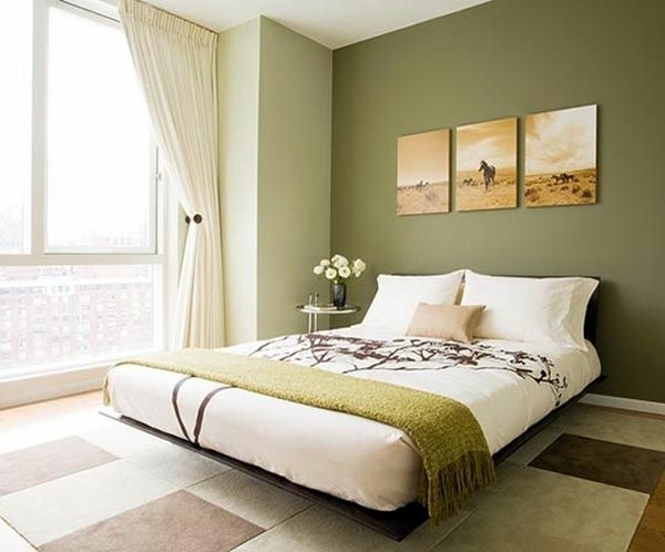 Wall color olive green relaxes the senses and fights against daily ...