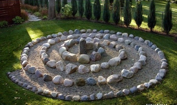 Landscaping with stones represents eternity