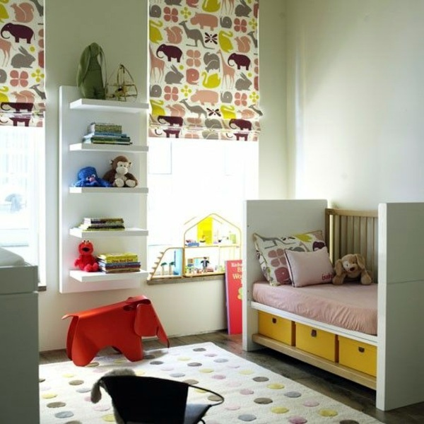 Blackout blind children colorful patterns and ideas for Blinds for kids rooms