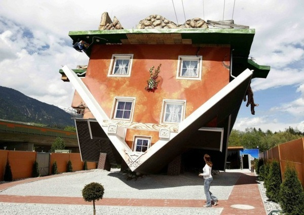 Upside Down House Design in Austria attracts a lot of attention to ...