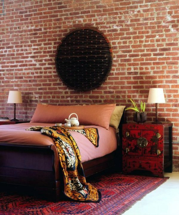 Wall Decoration Behind Bed : How you could decorate a brick wall behind your bed