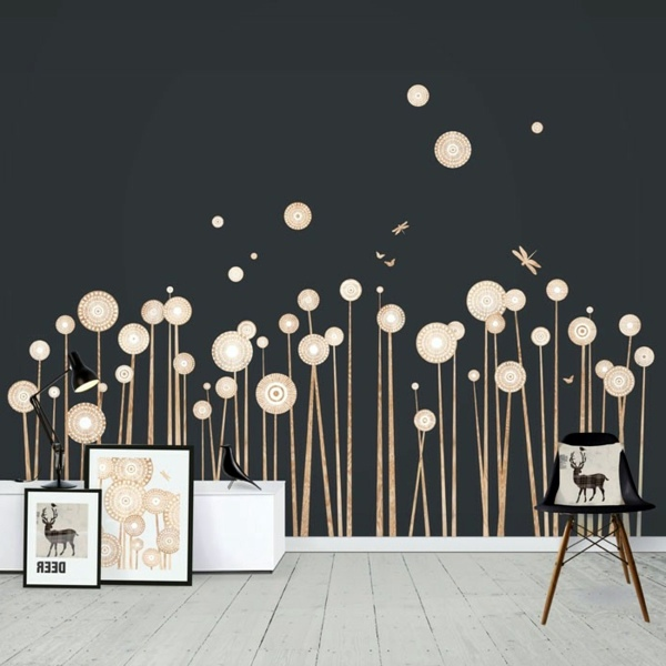 Decals Dandelions In The Scandinavian Style Contemporary Wall Decals   18  Great Pattern For Your Wall Decoration Part 98
