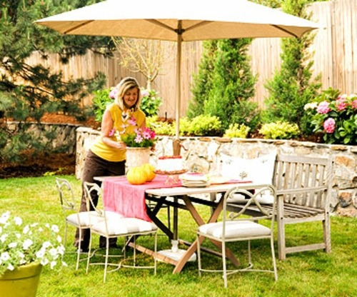 Gartengestaltung - Create a shaded seating area in the garden