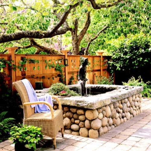 Create a shaded seating area in the garden interior for Creating privacy on patio