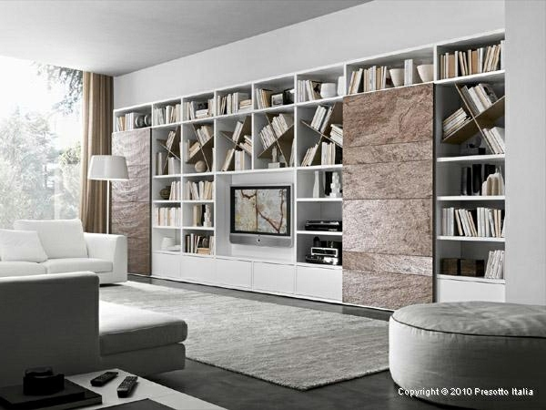 Designer shelves by presotto italia modern living room for Living room shelves