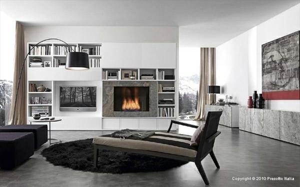 Designer Shelves By Presotto Italia Modern Living Room Interiors