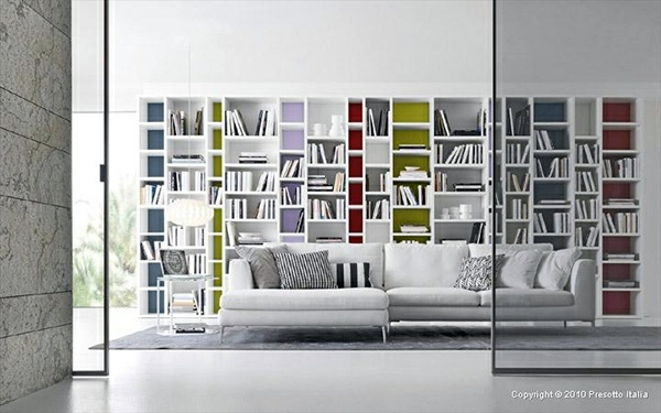 Put Colorful Accents Designer Shelves By Presotto Italia
