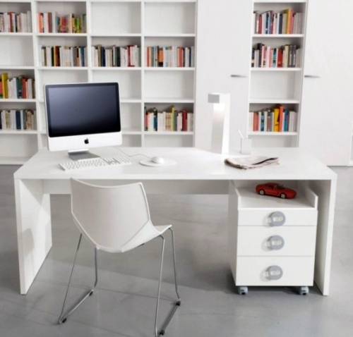 Adult Male Clever Workplace Design With More Storage Space