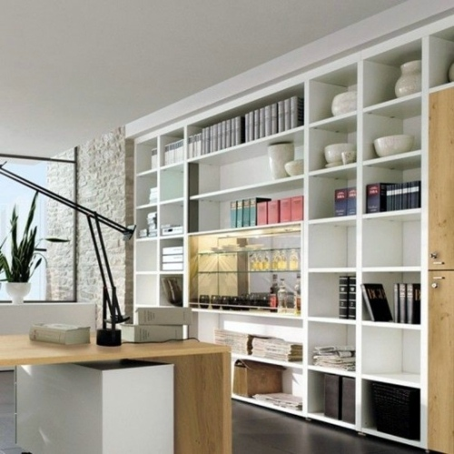 Clever Workplace Design With More Storage Space Interior