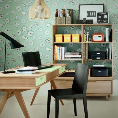 Modern Furniture Retro Flavor Clever Workplace Design With More Storage  Space