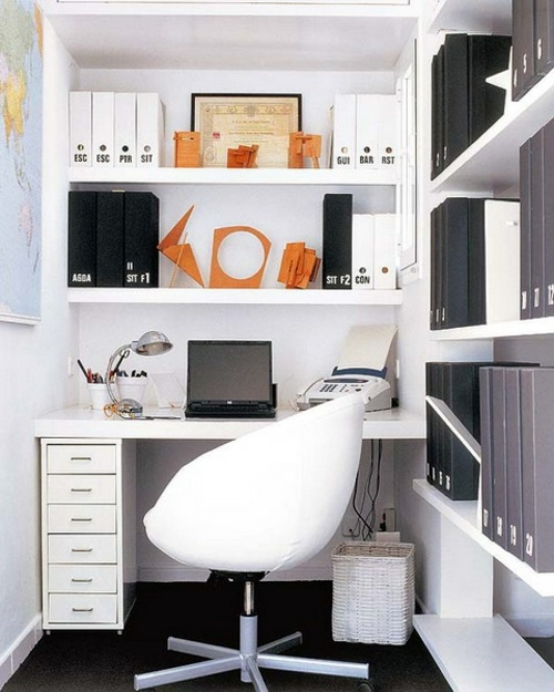 ... Clever Workplace Design With More Storage Space