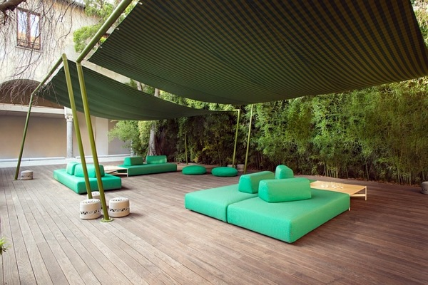 saturated attractive colors lounge gartenmbel lounge garden furniture set by paola lenti - Garden Furniture Loungers
