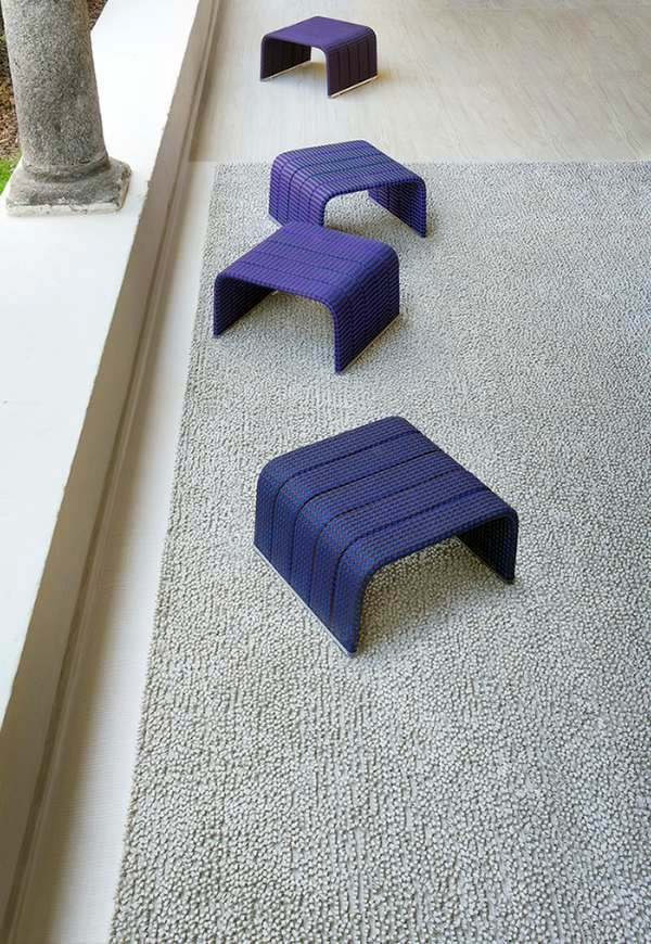 Purple Stool Lounge Garden Furniture Set By Paola Lenti