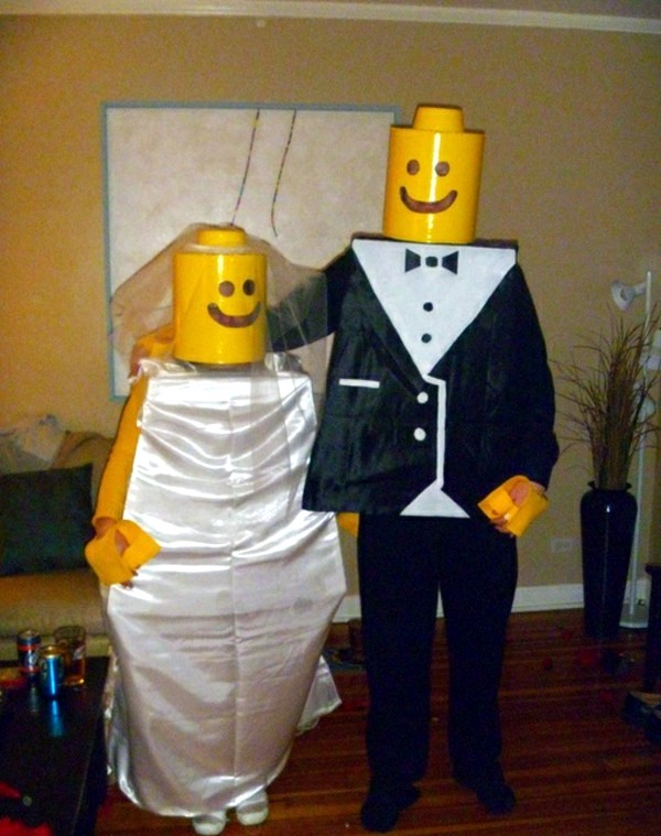 LEGO bride and groom 100 unique homemade costumes - great DIY clothes & 100 unique homemade costumes u2013 great DIY clothes | Interior Design ...