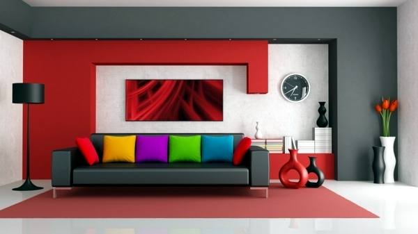 Wall Interior Design wall colors for living room – 100 trendy interior design ideas for