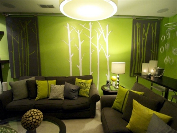 light green and dark textures wall colors for living room 100 trendy interior design ideas for your wall decoration - Interior Design Wall Paint Colors
