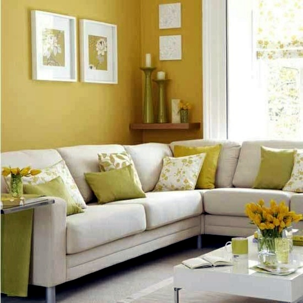The Colors Of Spring Bring Freshness Wall Colors For Living Room   100  Trendy Interior Design Ideas For Your Wall Decoration
