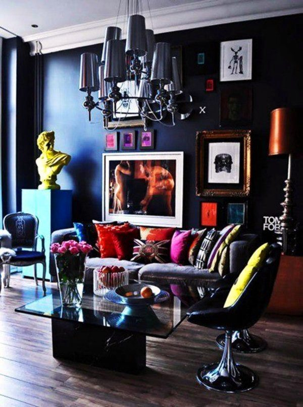 Wall colors for living room 100 trendy interior design for Rich colors for living room