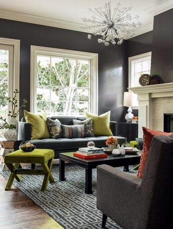 matt black wall design looks bright wall colors for living room 100 trendy interior design ideas for your wall decoration - Trendy Furniture Colors