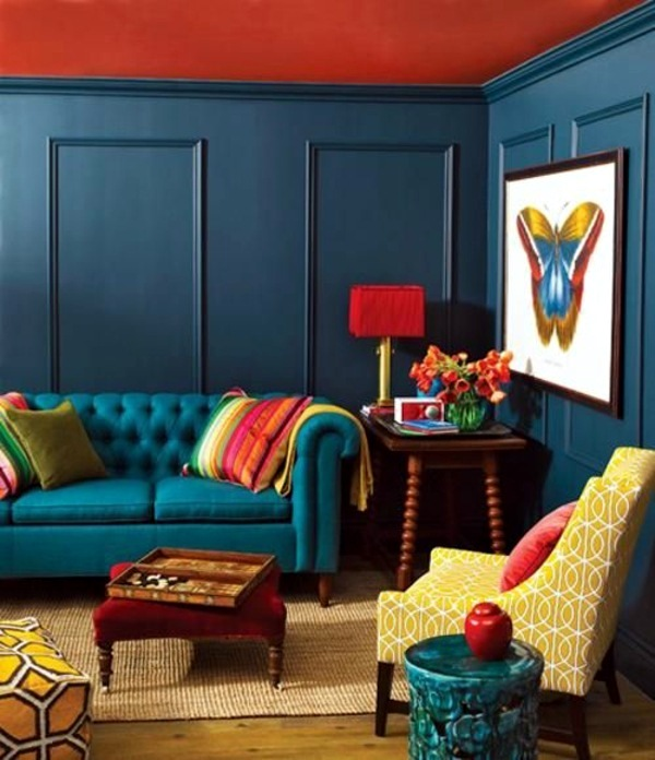 wall colors for living room 100 trendy interior design ideas for your wall decoration - Colorful Living Room