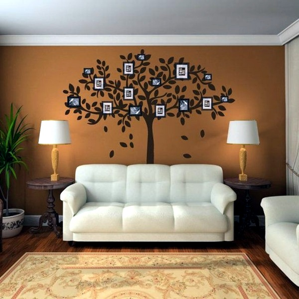 Wall colors for living room 100 trendy interior design for Wall hanging ideas for family room