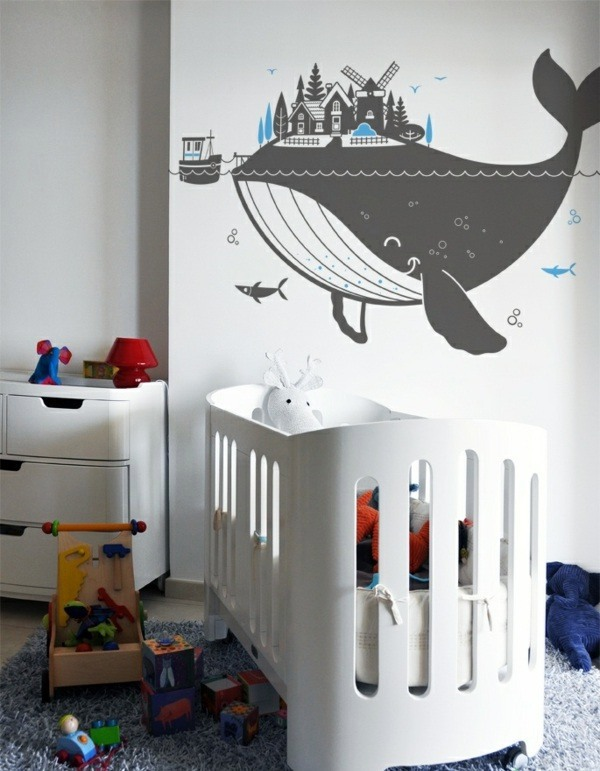 creative wall design with nursery wall decals interior design ideas avso org. Black Bedroom Furniture Sets. Home Design Ideas