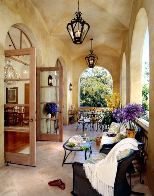 Loggias   Covered Outdoor Areas 12 Interior Design Italian Style   The  Flair Of The Italian House