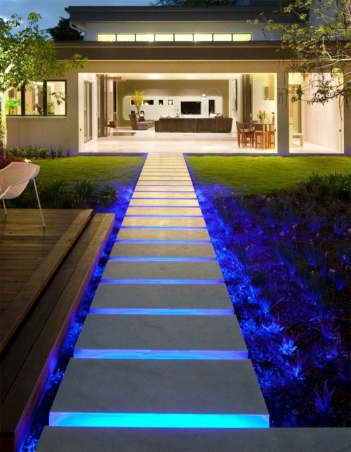 Cool Interior Design Cool Interior Design Ideas For Modern Outdoor Stairs  With Lighting