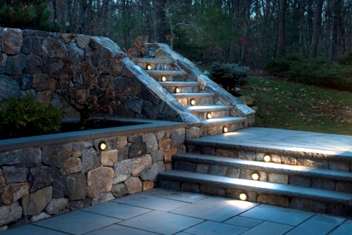 Cool interior design ideas for modern outdoor stairs with lighting
