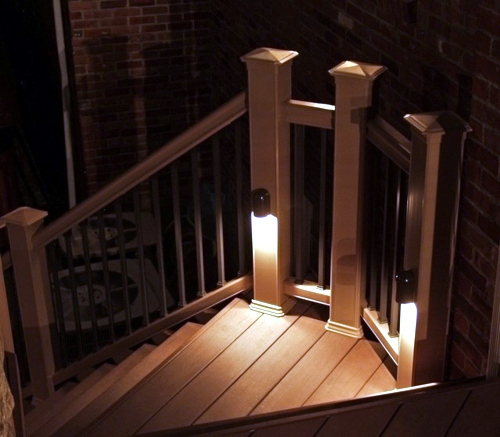 Lighting Basement Washroom Stairs: Cool Interior Design Ideas For Modern Outdoor Stairs With