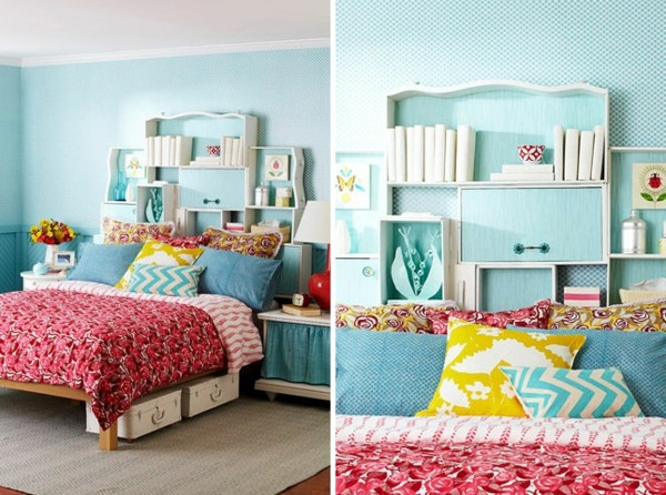 Shelves Behind The Bed Bedroom Design   Cool DIY Headboards For You