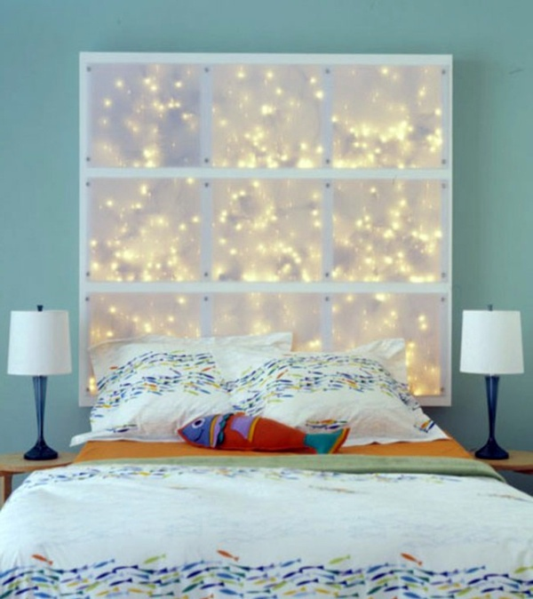 Magic Lights Bedroom Design   Cool DIY Headboards For You