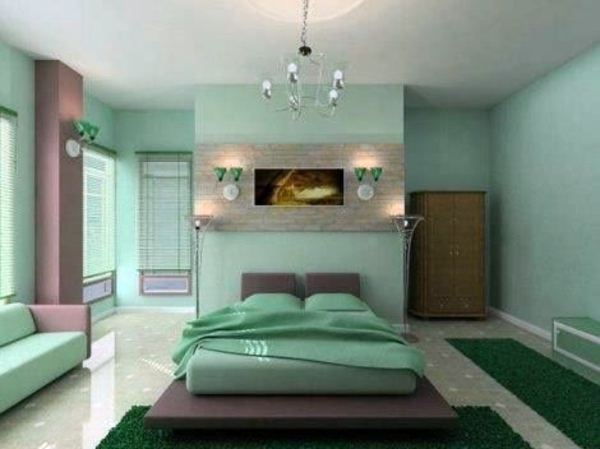 Mint Green Color Completely Customize Feng Shui Bedroom