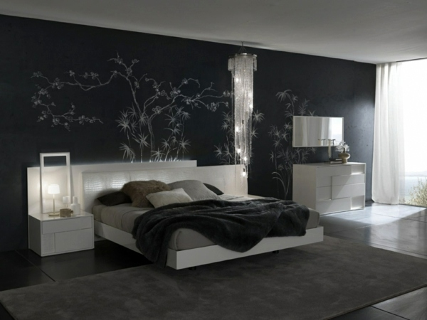 Monochrome Dark Colors Completely Customize Feng Shui Bedroom