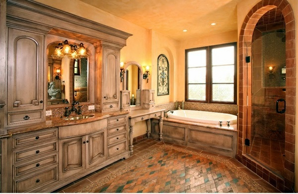 Mediterranean Style Luxury Bathrooms: 15 Mediterranean Bathroom Designs