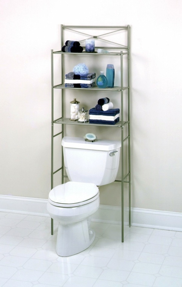 Bathroom shelf above toilet