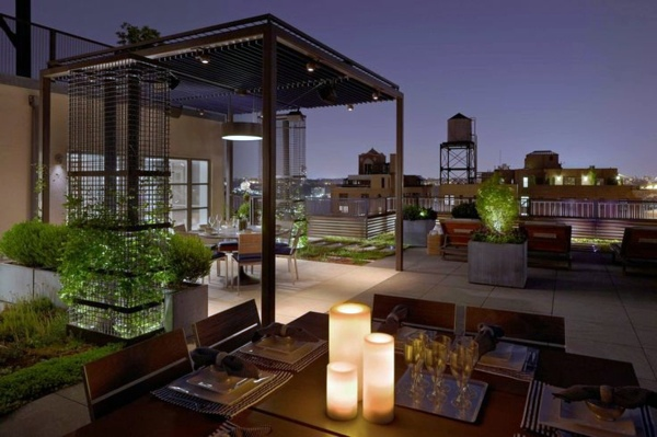 Covered terrace – 50 ideas for patio roof of modern houses ...