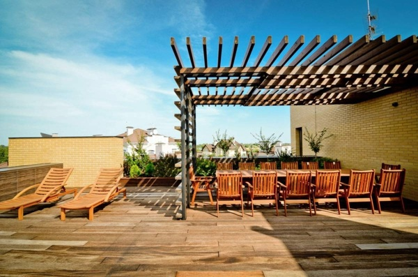... Covered Terrace   50 Ideas For Patio Roof Of Modern Houses