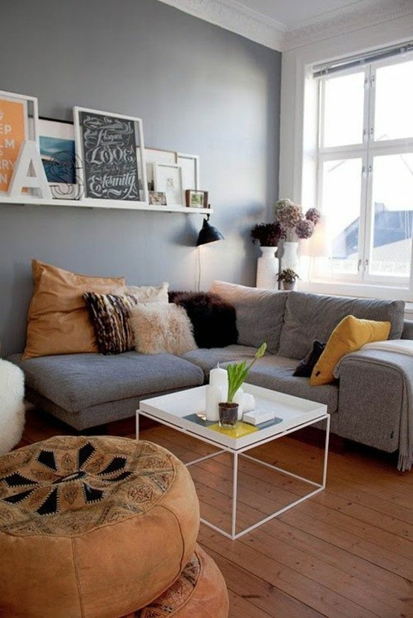 Attractive Corner Sofa Gray Examples Of Living Room Furniture   Highly Modern Way Living  Ideas Gallery