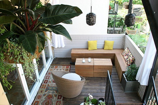 ... Terrace design with plants - beautiful examples and advice for you