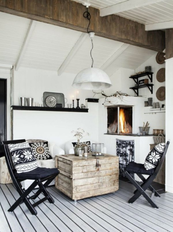 Living And Set Up A Cottage With Scandinavian Design