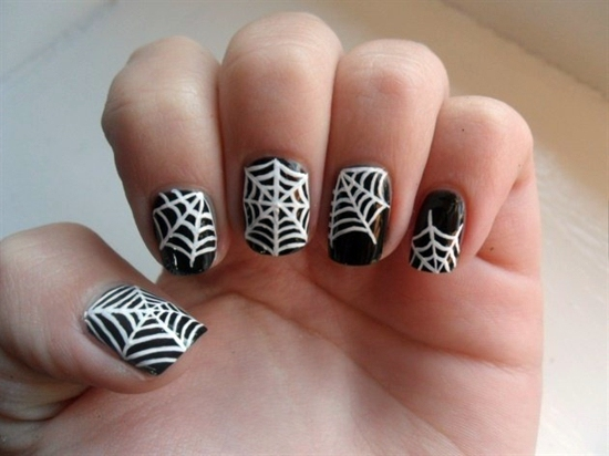 nail polish designs with cobwebs nail polish ideas for halloween 40 inspiring nail design pictures - Nail Polish Design Ideas