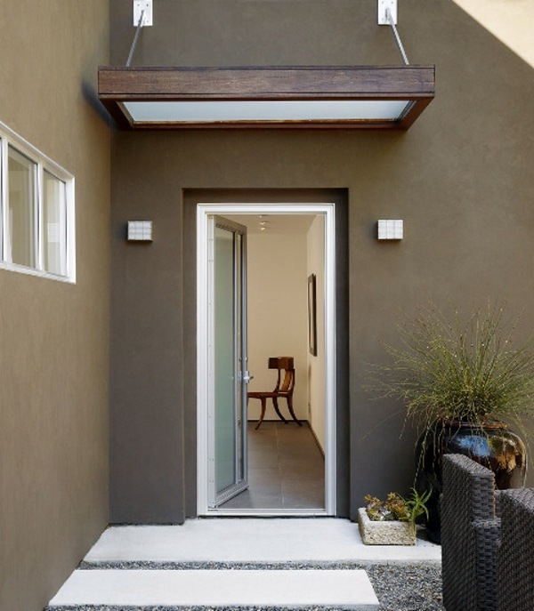 Architekt - House Awnings - Canopies canopy and front door glass and wood : awning doors - pezcame.com