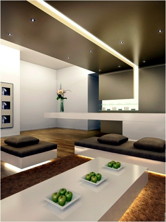 Opt For LED Integrated Lighting Modern Living Room