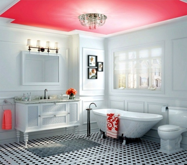 Bathroom wall color - fresh ideas for small spaces