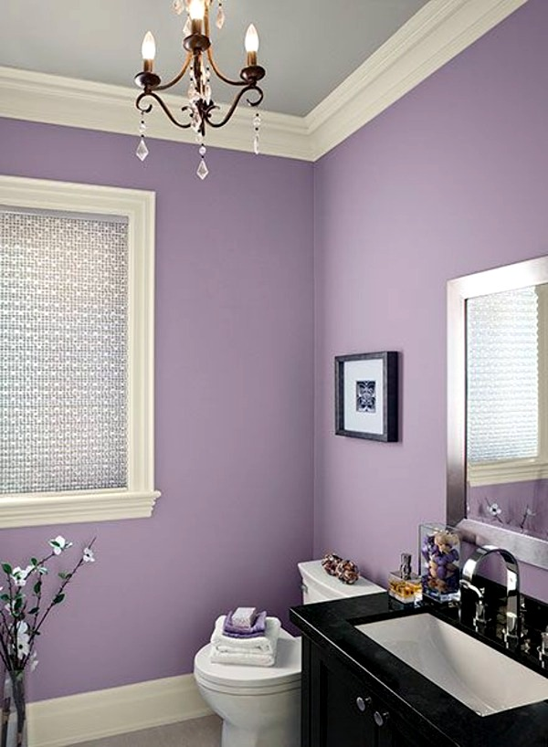 Bathroom wall color fresh ideas for small spaces interior design ideas avso org Purple and black bathroom ideas
